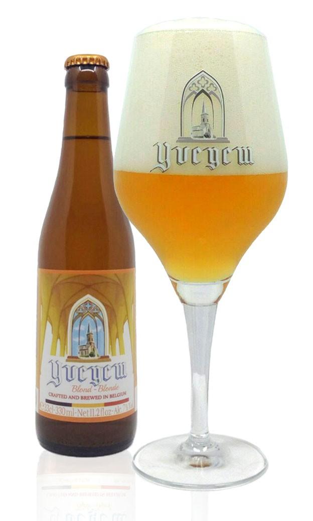belgabrew yvegem blond beer filled in yvegem glass Belgian craft beer