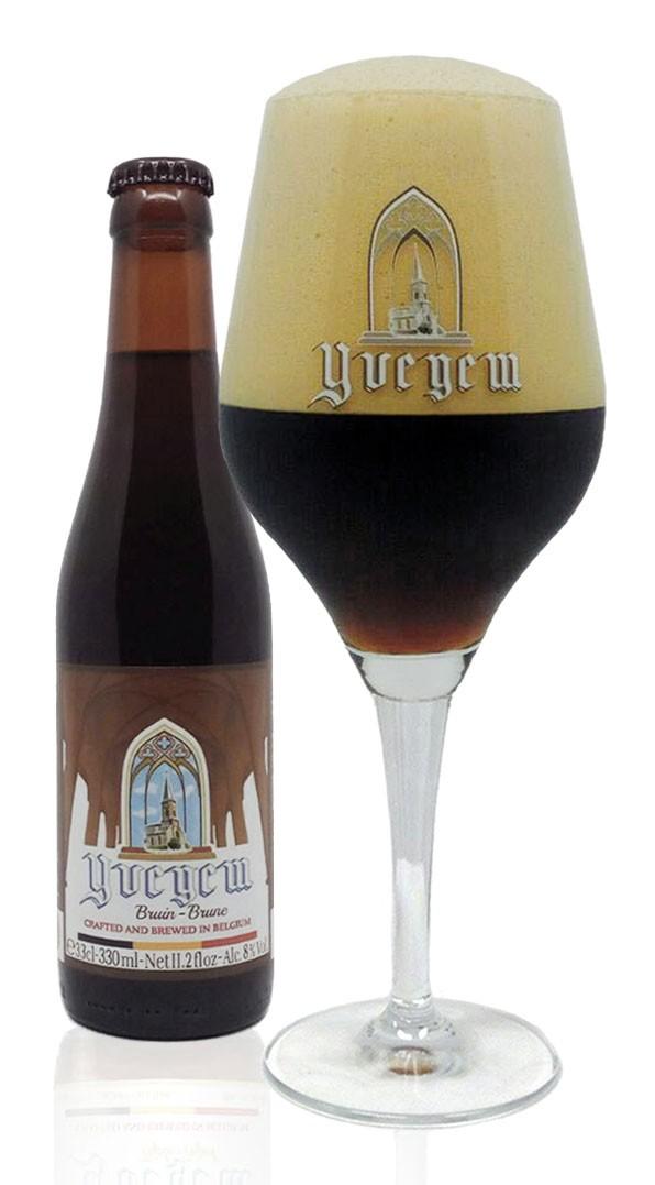 belgabrew yvegem brown filled in yvegem beer glass Belgian craft beer